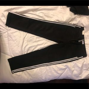 2 Stripe Black Jeans